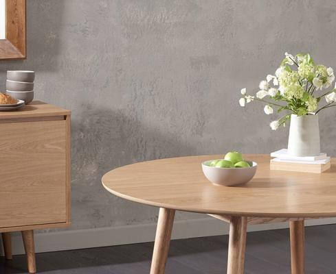 Harstad Oak round dining table image 7