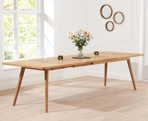 Staten Oak extending dining table image 2