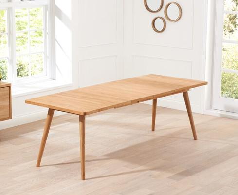 Staten Oak extending dining table image 4