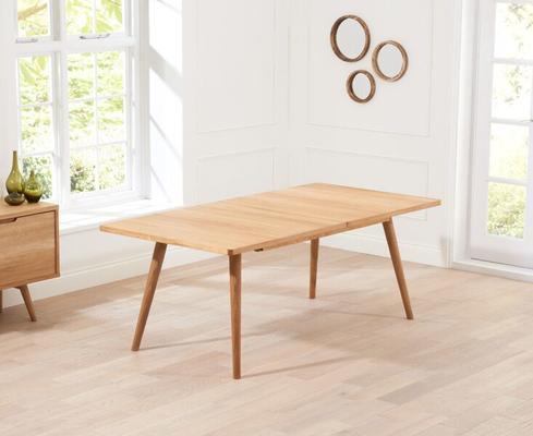 Staten Oak extending dining table image 5