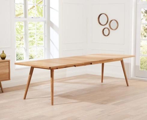 Staten Oak extending dining table image 6