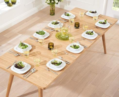 Staten Oak extending dining table image 7