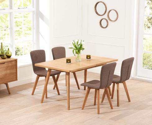 Staten Oak extending dining table image 8