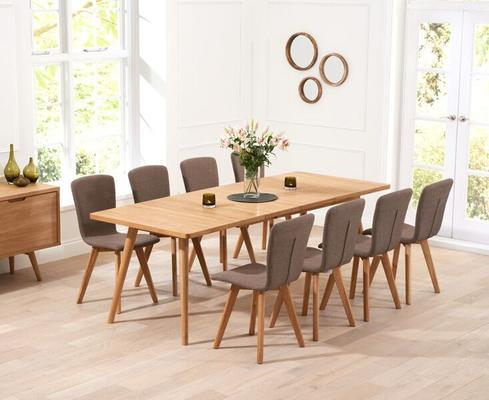 Staten Oak extending dining table image 9
