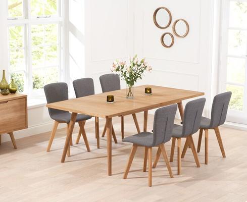Staten Oak extending dining table image 10