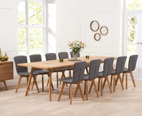 Staten Oak extending dining table image 11