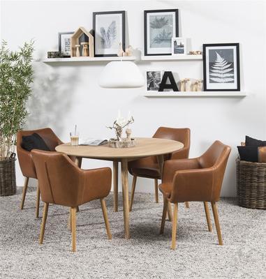 Nagane round Oak dining table (Sale) image 2