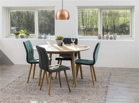 Nagane round Oak dining table (Sale) image 3