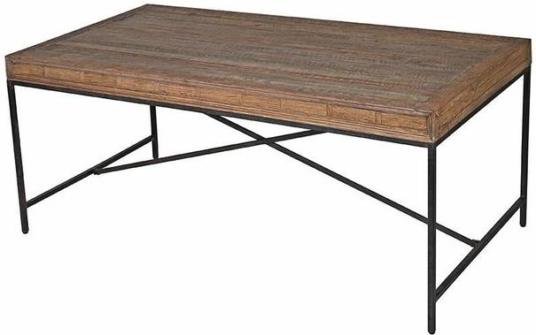 Greenwich Reclaimed Wood Refectory Dining Table image 2