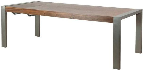 Morcott Walnut and Steel Extending Dining Table image 2