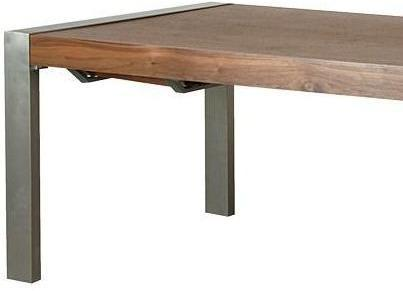 Morcott Walnut and Steel Extending Dining Table image 3