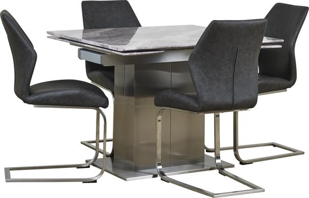 Tremiti extending table with 4 chairs