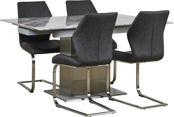 Tremiti extending table with 4 chairs image 2