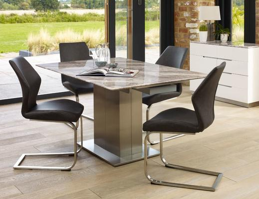 Tremiti extending table with 4 chairs image 3