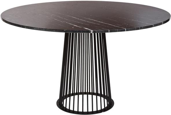 Chancery Marquina Marble Round Dining Table