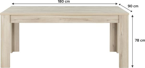 Albin Extending Dining Table 180-228cm - Light Oak Finish image 4