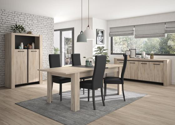 Albin Extending Dining Table 180-228cm - Light Oak Finish image 5