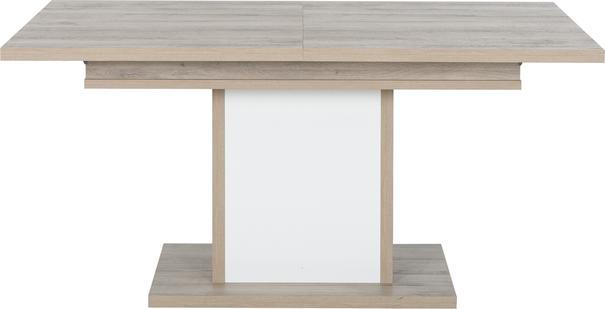 Aston Extending Dining Table 160-208cm - White and Light Oak or Black image 2