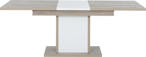 Aston Extending Dining Table 160-208cm - White and Light Oak or Black