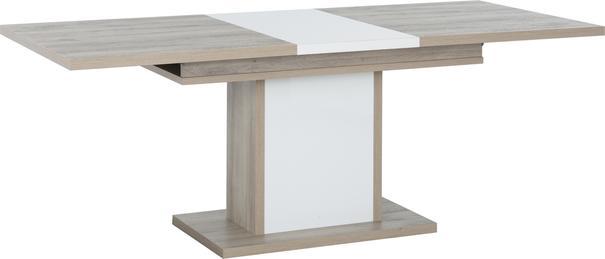 Aston Extending Dining Table 160-208cm - White and Light Oak or Black image 5