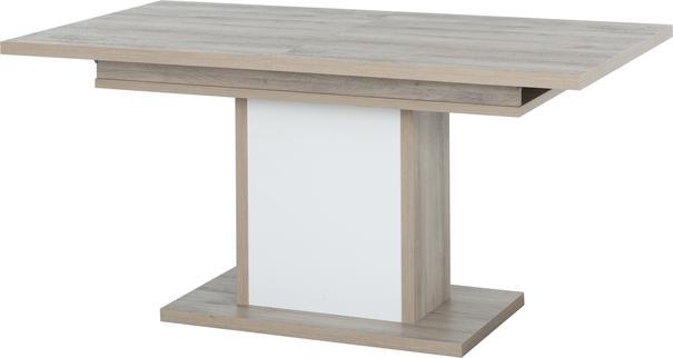 Aston Extending Dining Table 160-208cm - White and Light Oak or Black image 7