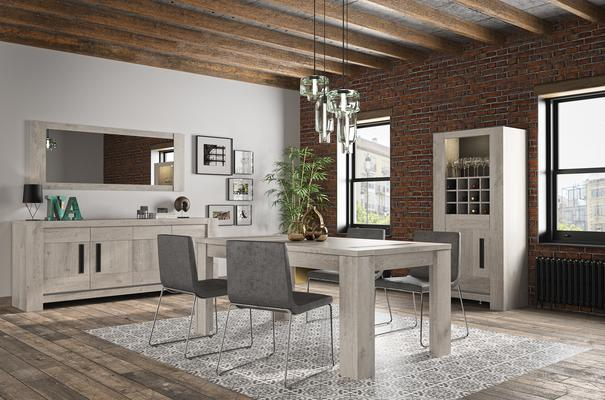 Boston Extending Dining Table 181 - 226cm - Light Grey Oak Finish image 6