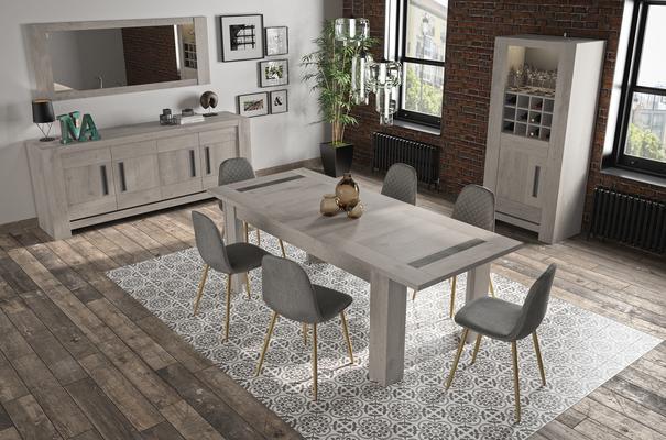 Boston Extending Dining Table 181 - 226cm - Light Grey Oak Finish image 7