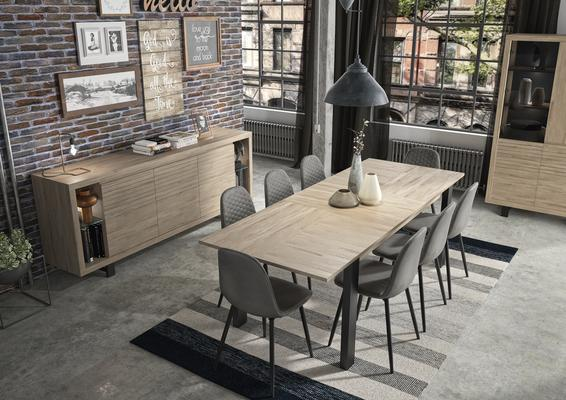 Clay Extending Dining Table 180 - 237cm - Light Natural Oak Finish image 9