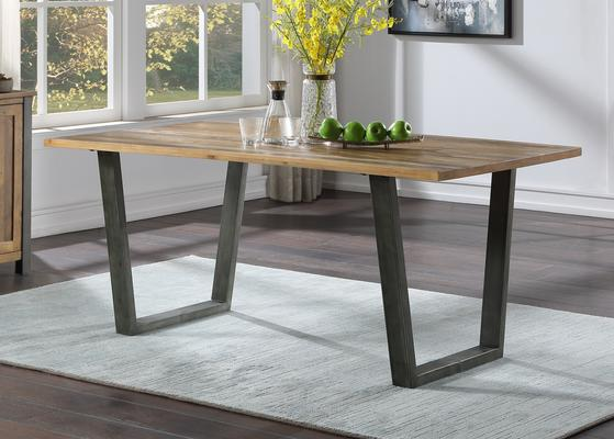 Urban Elegance Reclaimed 180cm Dining Table Reclaimed Wood and Aluminium