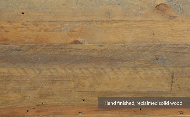 Urban Elegance Reclaimed 180cm Dining Table Reclaimed Wood and Aluminium image 2