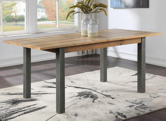 Urban Elegance Extending Dining Table 150-200cm Reclaimed Wood and Aluminium image 4