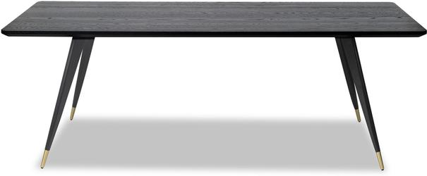 Harley Black Oak Rectangular Dining Table