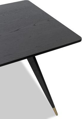 Harley Black Oak Rectangular Dining Table image 3