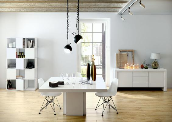 Dusk 1.3m square dining table (Sale) image 8