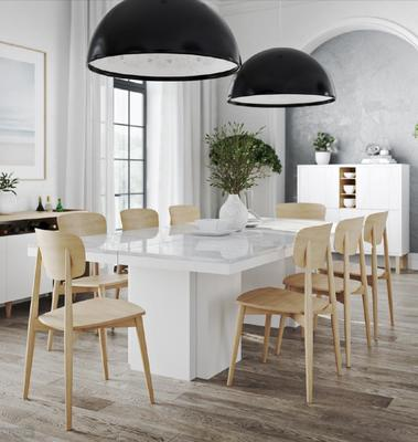 Dusk (marble) dining table image 8