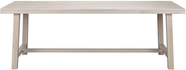 Milton Solid Oak White Rectangular Dining Table