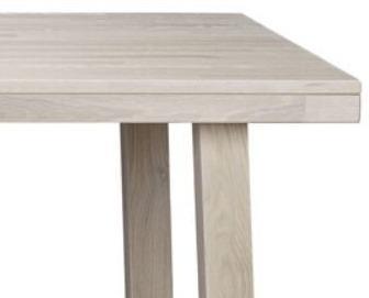 Milton Solid Oak White Rectangular Dining Table image 2