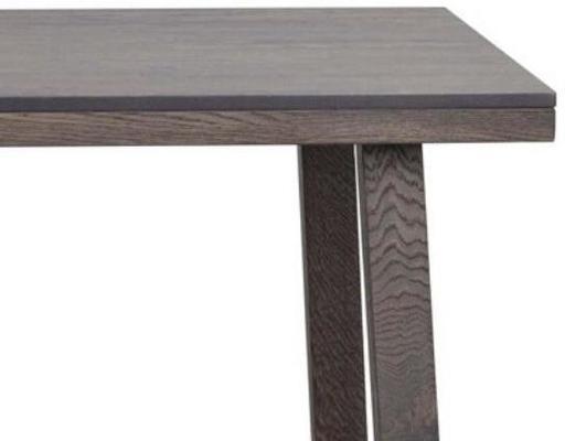 Milton Dark Grey Oak Dining Table image 2