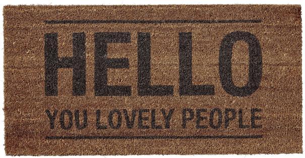 Bloomingville 'Hello You Lovely People' Doormat