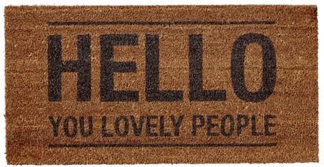 Bloomingville 'Hello You Lovely People' Doormat image 2