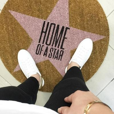Bloomingville 'Home of a Star' Round Doormat