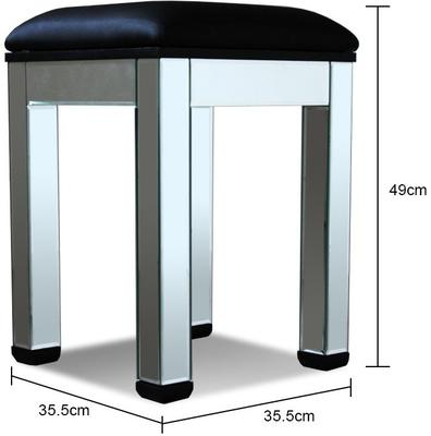 Mirrored Dressing Table Stool image 2