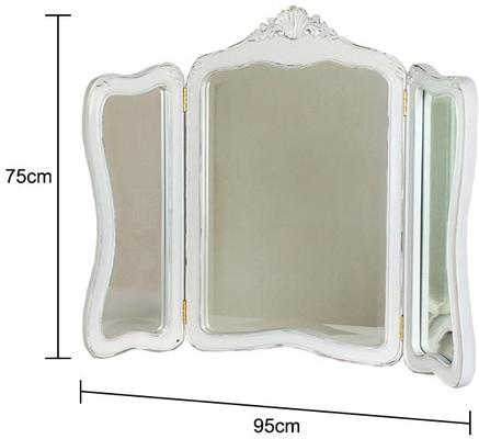Ripple French-Style Three Drawer Console or Dressing Table image 14