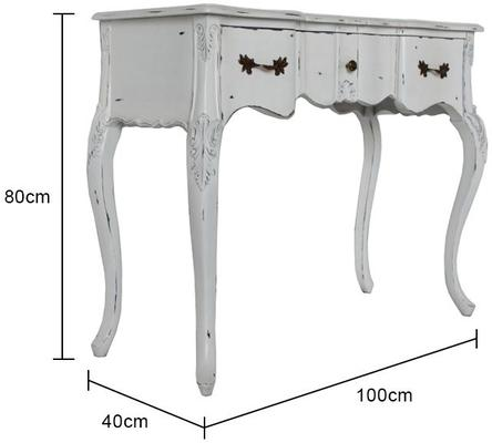 Ripple French-Style Three Drawer Console or Dressing Table image 17