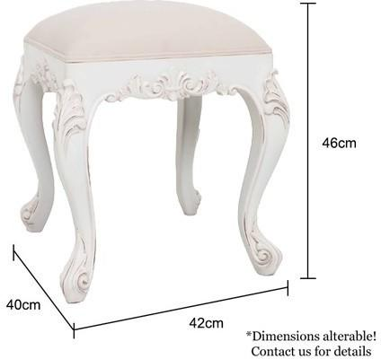 Classic French Dressing Table Stool image 2