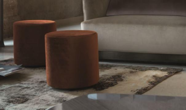 Elysee round pouffe