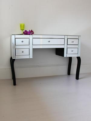 Large Five Drawer Mirrored Dressing Table