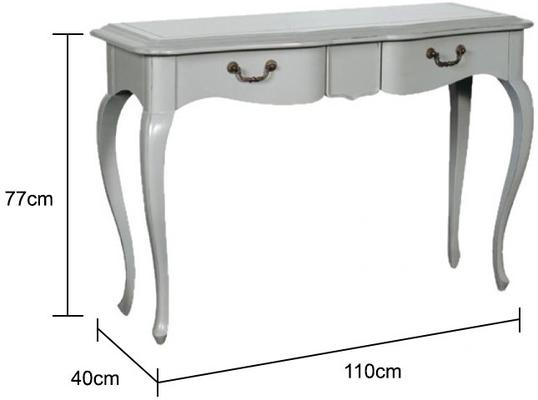Simple French Dressing Table - Light Grey or Cream image 2