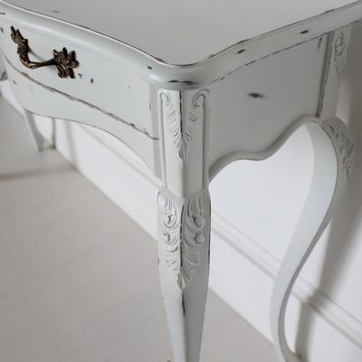 Ripple French Two Drawer Console / Dressing Table in Antique White image 2