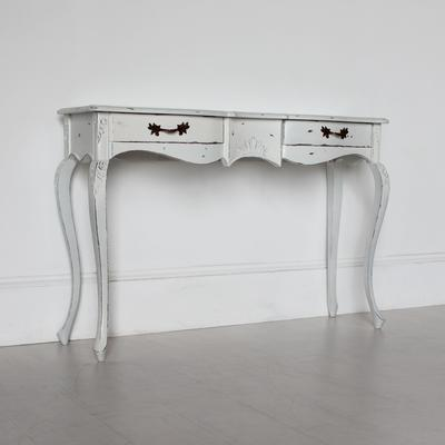 Ripple French Two Drawer Console / Dressing Table in Antique White image 3